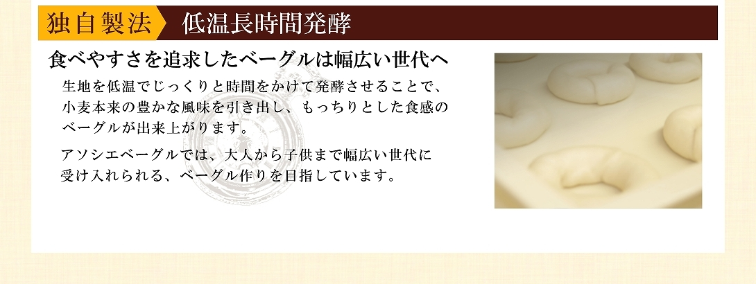 アソシエベーグル説明・発酵