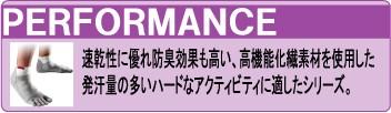 インジンジ パフォーマンス オリジナルウエイト 5本指ソックス