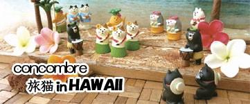 「デコレ コンコンブル 旅猫inハワイ オブジェ 置き物 ねこ ネコ」