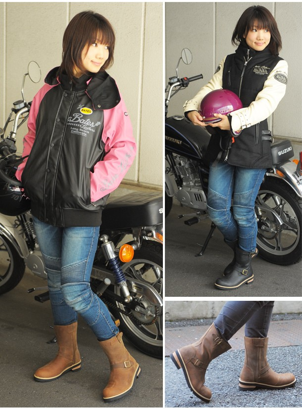 WILD WING ライダーズエンジニアブーツ イーグル  WWM-0006 /女性用/バイク/レディース/ライダース/レザーブーツ/靴/ワイルドウィング/レースアップ/牛革/本革/