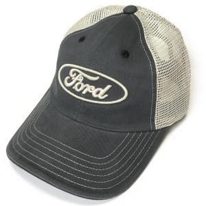 FORD ロゴ刺繍 メッシュキャップ (ネイビー×ベージュ)-G- フォード CAP 帽子 アメカジ カジュアルブランド ヴィンテージスタイル|bambi|04