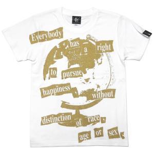 Happiness(ハピネス)Tシャツ (ホワイト)-G- 半袖 白色 地球儀 パンクロックTee カジュアル アメカジ メッセージ|bambi|07
