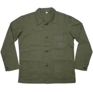 【送料無料】USタイプ P41 HBTジャケット (オリーブ)【レプリカ】-G- 米軍 アメリカ海兵隊 EGA USMC ミリタリー カバーオール bambi 07