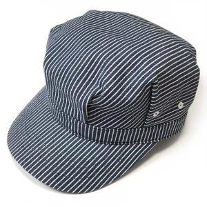 レイルロード キャップ (ネイビーストライプ) PENNANT BANNERS -G-CAP 帽子 ワークキャップ ヒッコリー アメカジ bambi 04