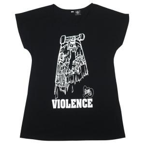 VIOLENCE (バイオレンス) Tシャツワンピース -G- ワンピTシャツ 半袖Tee ゾンビ スケボー パンクロックTシャツ|bambi|06