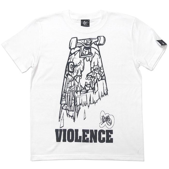 VIOLENCE (バイオレンス) Tシャツ (ホワイト)-G-  半袖 白Tee ゾンビ スケボー パンクロックTシャツ バンドTシャツ|bambi|08