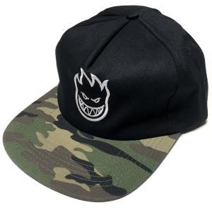 スピットファイア BIGHEAD ANST キャップ (ブラック×迷彩)- SPITFIRE -G- CAP スナップバック 帽子 黒×カモフラージュ 刺繍ロゴマーク|bambi|04