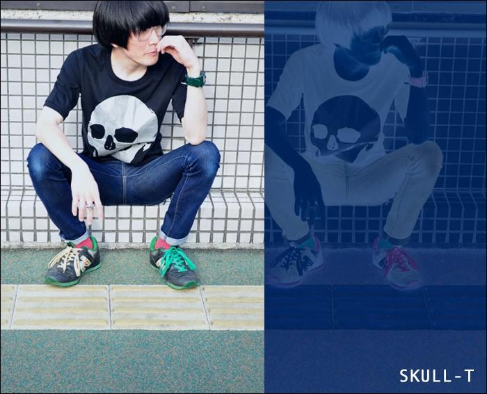 バンビのスカル skull Tシャツ