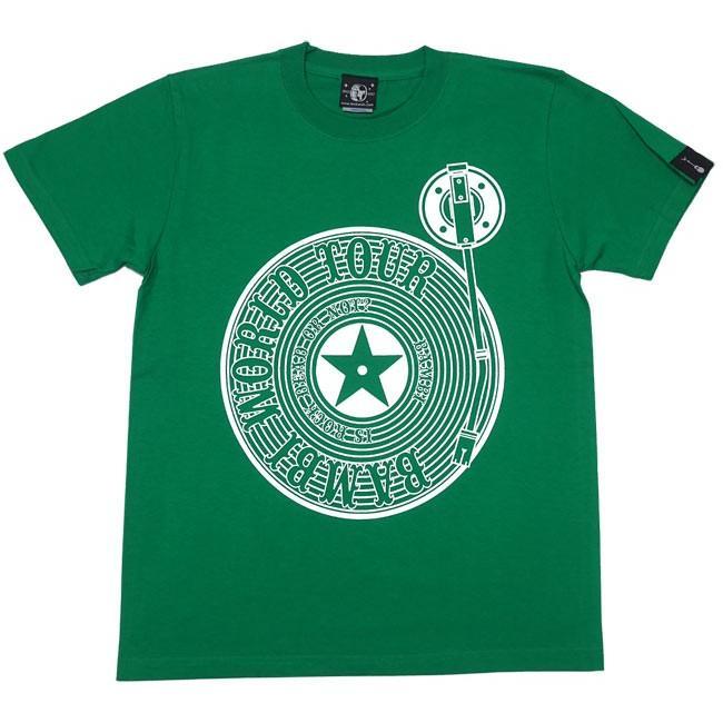 ロックTシャツ / Bambi World Tour Tシャツ (グリーン)-F- 半袖 緑色 ロックンロール バンドTシャツ ライブ フェス 音楽 バックプリント|bambi|06