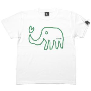 特別プライス☆ ゾウさん Tシャツ (ホワイト)-G- 白色 ぞう アニマル柄 落書き イラスト かわいい 半袖 綿100% bambi 06