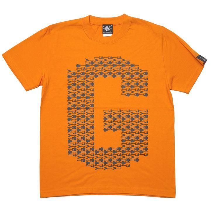 ギターのG Tシャツ (オレンジ) -G- ロックTシャツ バンドTシャツ ロゴT ギター柄 カジュアル おしゃれ 半袖 bambi 06