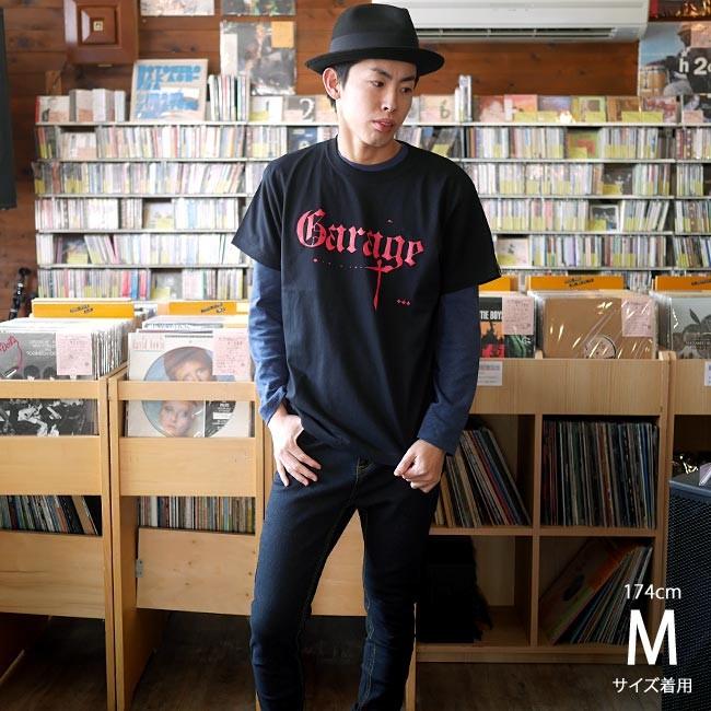Garage ガレージ Tシャツ ブラック 半袖 ロックTシャツ ロックンロール バンド 音楽 アメカジ カジュアル おしゃれ かっこいい Tシャツ屋さんバンビ