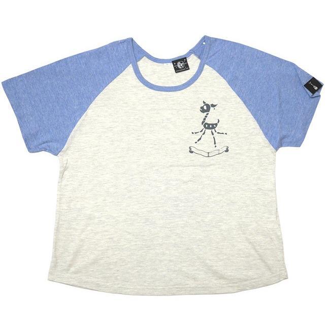 鹿の骨 ラグラン ガールズ ビックTシャツ -G- 半袖 スカル ロックTシャツ ワンポイント バックプリント ゆったりサイズ bambi 05