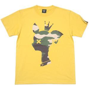 迷彩 バンビ Tシャツ ( バナナ ) -G- 半袖 黄色 カモフラ ロゴtシャツ プリント かわいい アメカジ おしゃれ 大きいサイズ|bambi|05