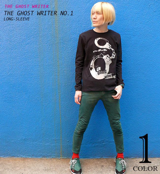 The Ghost Writer No.1 ロングスリーブTシャツ The Ghost Writer ザ ゴーストライター パンク ロックTシャツ メッセージ 長袖 ロンT カットソー ユニセックス