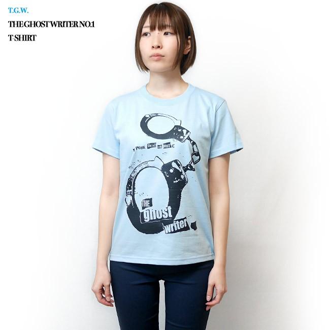 The Ghost Writer No.1 Tシャツ ライトブルー 半袖 手錠 UK US パンクロックTシャツ パンクスタイル ロック かっこいい おしゃれ メンズ レディース 男女兼用 ユニセックス 大きいサイズ コットン綿100% オリジナルブランド Tシャツ屋さんバンビ XXS XS S M Lサイズ 春夏秋コーデ