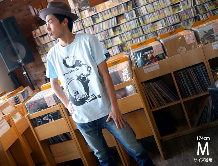The Ghost Writer No.1 Tシャツ ライトブルー 半袖 手錠 UK US パンクロックTシャツ パンクスタイル ロック かっこいい おしゃれ メンズ レディース 男女兼用