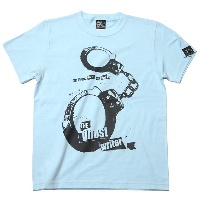パンクロックTシャツ / The Ghost Writer No.1 Tシャツ (ライトブルー) -G- PUNKROCK 手錠 パンクスタイル かっこいい 半袖|bambi|09