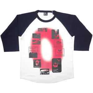 Gleam 0(ゼロ) ラグランスリーブTシャツ -G- 7分袖 七分袖 カットソー グラフィックデザイン アメカジ カジュアル|bambi|07