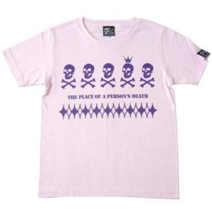 スカルTシャツ / EDST-ゴースト5 Tシャツ(ライトピンク)-G- 半袖 ドクロ パンクロックTシャツ かっこいい アメカジ カジュアル|bambi|06