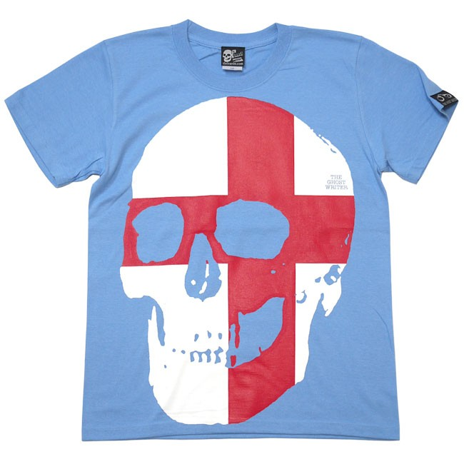 セント ジョージ クロス スカル Tシャツ 半袖 パンクロックTシャツ ドクロ 髑髏 イングランド 英国 十字旗 かっこい オリジナル メンズ レディース ユニセックス ファッション Tシャツ屋さんバンビ パープル スミ 紫色 灰色 大きいサイズ  XXS XS S M Lサイズ