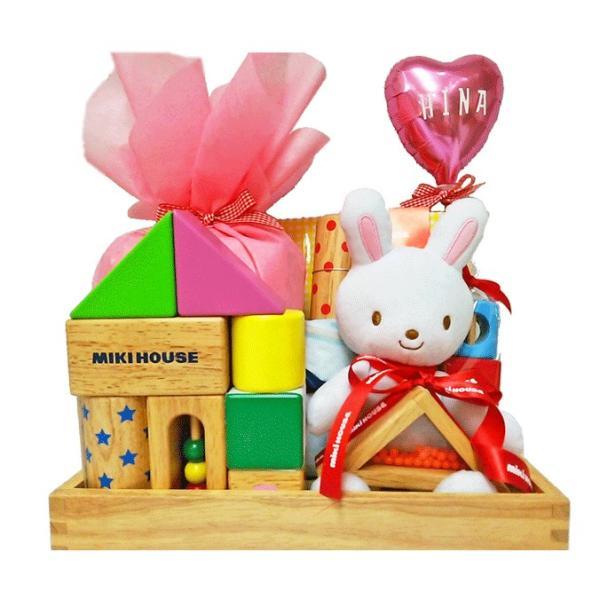 出産祝い ミキハウス 名入れ おもちゃ ぬいぐるみ おむつケーキ 積み木 つみき ブロック男 女 1歳の誕生日プレゼントにもぴったり bambinoeshop 09