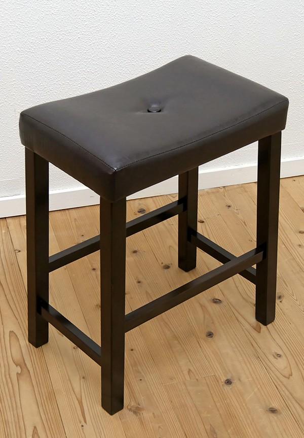座面高60cmの飲食店用/座面クッション付木製スツール7000円以下