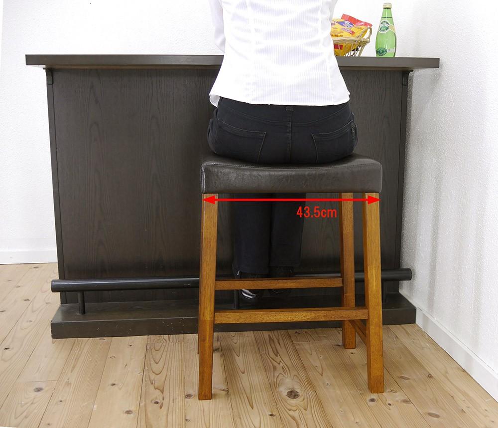 狭い場所で使える木製スタンド椅子