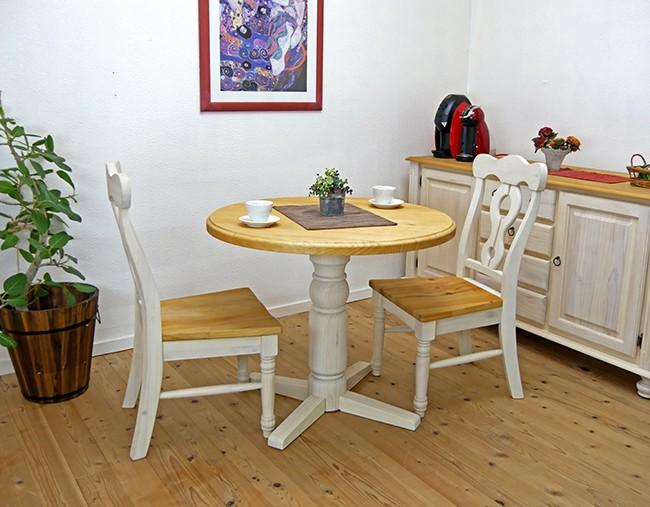 90cm丸形のカントリーテーブルセット