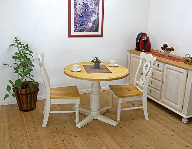 白いカントリーダイニングセット/フレンチカントリーの食卓