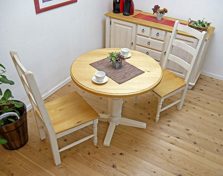 フレンチカントリーの丸形カフェテーブル