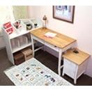 白い本棚付学習机