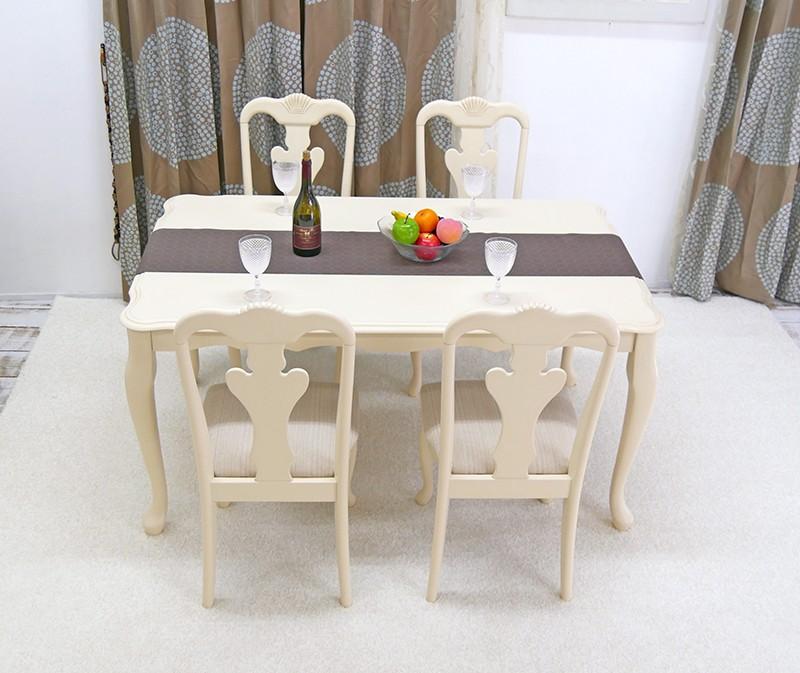 猫脚クインアン調4人がけテーブルセット