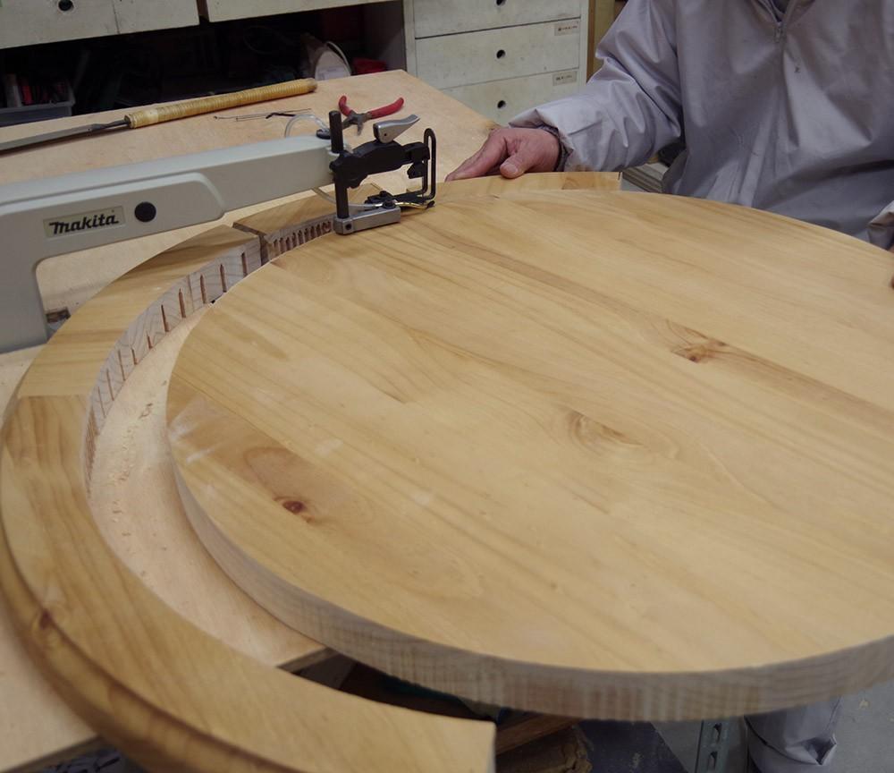 テーブルサイズ加工