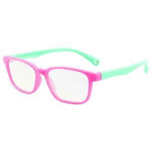 ブルーライトカット PCメガネ 子ども用 ブルーライトカットメガネ 子供用 PC眼鏡 パソコン おしゃれ 度なし メンズ レディース 軽量 送料無料 baris 18