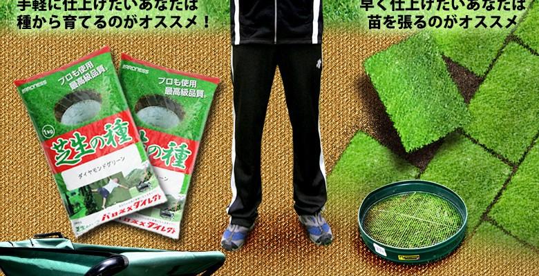 お庭に芝生を作るなら!あなたは種派?