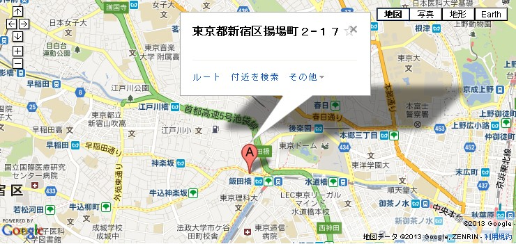 飯田橋本店地図