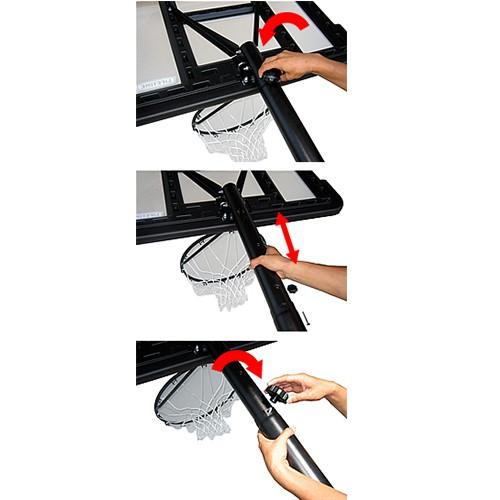 バスケットゴール【LIFETIME(ライフタイム)】LT-90089 簡単高さ調節機能「テレスコープ方式」