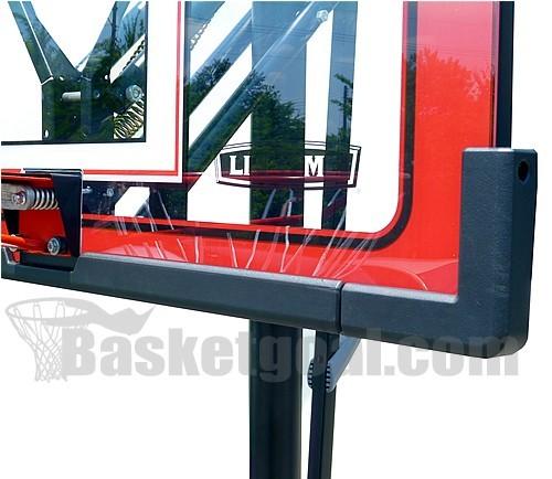 バスケットゴール【LIFETIME(ライフタイム)】LT-1558 超大型ポリカーボネート製透明バックボード