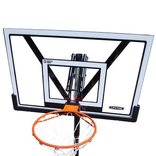 バスケットゴール【LIFETIME(ライフタイム)】LT-90585 超大型ポリカーボネート製透明バックボード