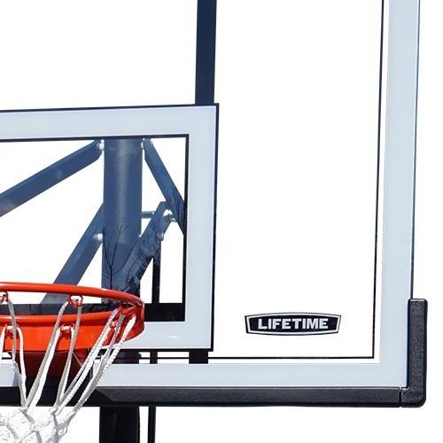 バスケットゴール【LIFETIME(ライフタイム)】LT-90600 超大型ポリカーボネート製透明バックボード