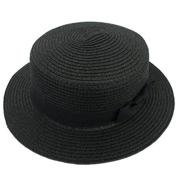 麦わら帽子 カンカン帽 ストローハット リボン付 キッズハット メンズ レディース 子ども用 UVカット 日除け ハット 春 夏 STRAW HAT 6546|bbdirect|06