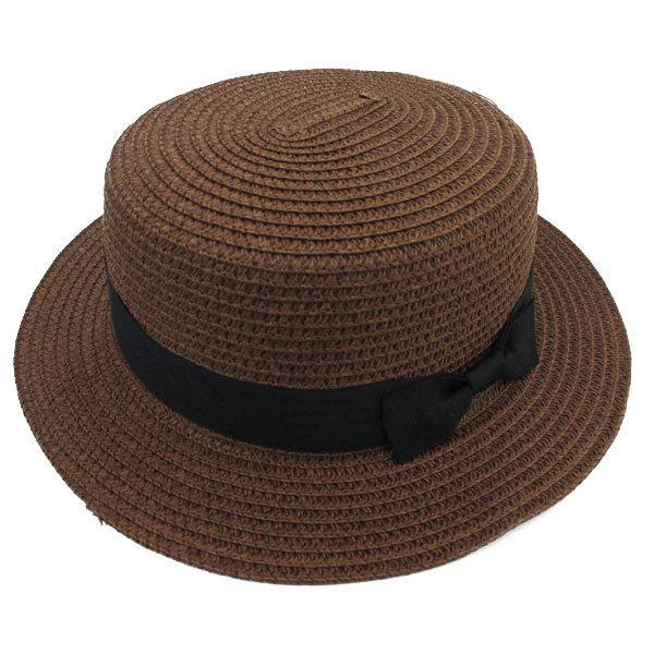 麦わら帽子 カンカン帽 ストローハット リボン付 キッズハット メンズ レディース 子ども用 UVカット 日除け ハット 春 夏 STRAW HAT 6546|bbdirect|07