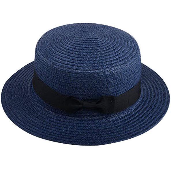 麦わら帽子 カンカン帽 ストローハット リボン付 キッズハット メンズ レディース 子ども用 UVカット 日除け ハット 春 夏 STRAW HAT 6546|bbdirect|08