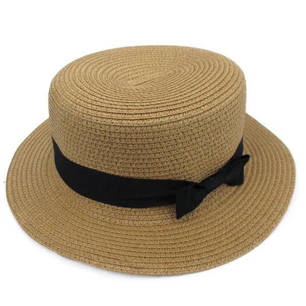 麦わら帽子 カンカン帽 ストローハット リボン付 キッズハット メンズ レディース 子ども用 UVカット 日除け ハット 春 夏 STRAW HAT 6546|bbdirect|09