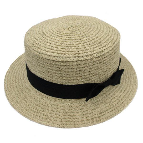 麦わら帽子 カンカン帽 ストローハット リボン付 キッズハット メンズ レディース 子ども用 UVカット 日除け ハット 春 夏 STRAW HAT 6546|bbdirect|10