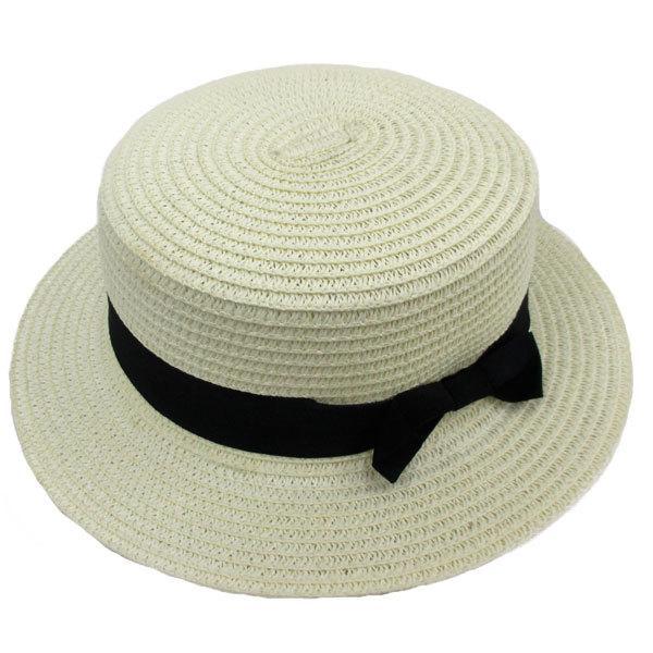 麦わら帽子 カンカン帽 ストローハット リボン付 キッズハット メンズ レディース 子ども用 UVカット 日除け ハット 春 夏 STRAW HAT 6546|bbdirect|11