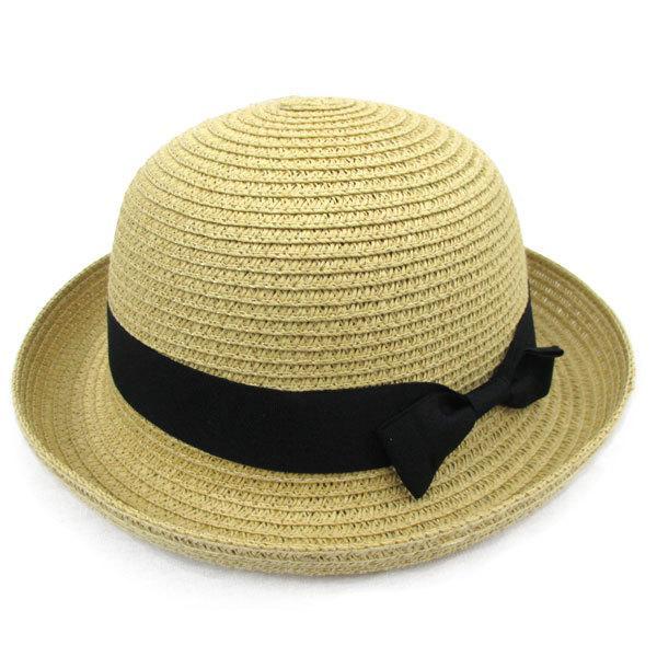 子ども用 麦わら帽子 ボーラー ストローハット リボン付 ボーラ―ハット キッズハット メンズ レディース UVカット 日除け ハット 春 夏 STRAW HAT 6547|bbdirect|11