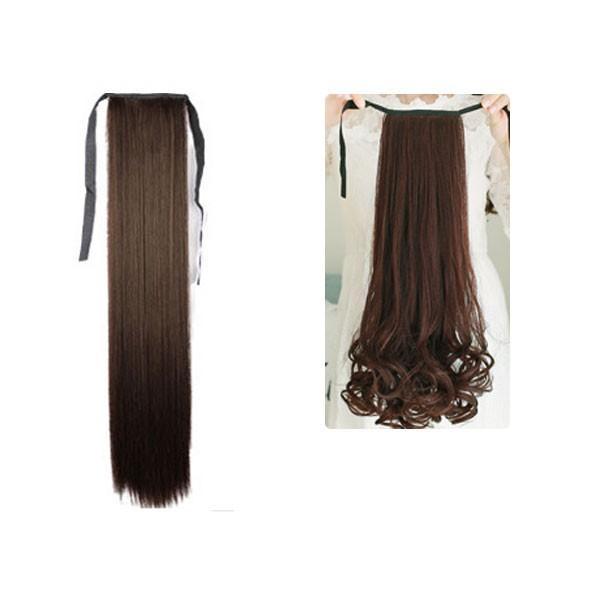 ポイントウィッグ カール ストレート リボン式 ポニーテール エクステ ミディアム セミロング 黒 黒髪 耐熱 付け毛 つけ毛 ウイッグ wig point 003|bbdirect|12