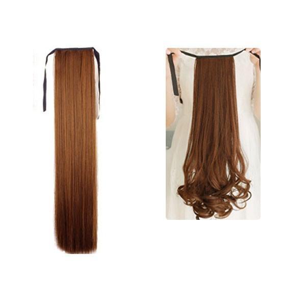 ポイントウィッグ カール ストレート リボン式 ポニーテール エクステ ミディアム セミロング 黒 黒髪 耐熱 付け毛 つけ毛 ウイッグ wig point 003|bbdirect|13